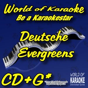 CD-Cover-Deutsche Evergreens-Karaoke-Playbacks-