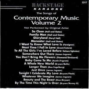 Backstage Karaoke - BS5317 - Contemporary Music 2