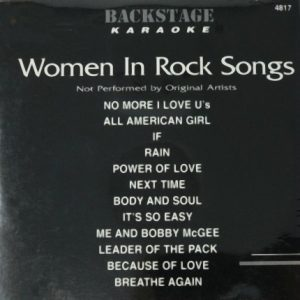 Backstage Karaoke - Women In Rock - 4817 - Front