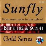 Sunfly Karaoke Gold CD + G - Blink 182 & Sum 41 - GD-035