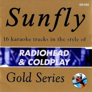 Sunfly Karaoke Gold - Radiohead & Coldplay CDG - Front