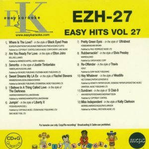Easy Hits - EZH-27 - Karaoke CD+G