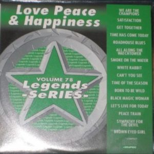 LEGENDS Karaoke Vol.78 LOVE, PEACE and HAPPINESS Songs