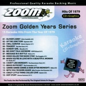 Zoom Karaoke CD+G - Golden Years 1979 - 15 Karaoke Classics - Front