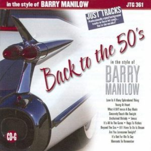 BACK TO THE 50'S - BARRY MANILOW - KARAOKE PLAYBACKS - CD-Front