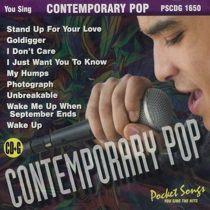 Contemporary Pop – Karaoke Playbacks – PSCDG 1650 - CD-Front