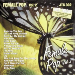 Female Pop 2 - Karaoke Playbacks - JTG 302 - CD-Front