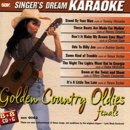 Golden Country Oldies Female - Karaoke Playbacks - CD-Front