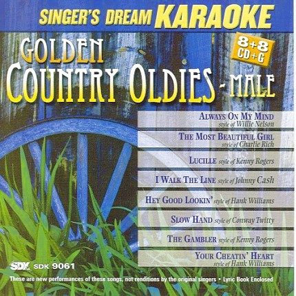 Golden Country Oldies Male CDG - CD-Front - Karaoke Playbacks