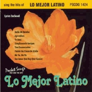 Lo Mejor Latino - Karaoke Playbacks - PSCDG 1424 - CD-Front