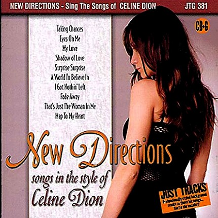 New Directions - Songs in the Style of Celine Dion - Karaoke Playbacks - CD-Front
