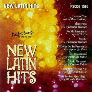 New Latin Hits - Karaoke Playbacks - PSCDG 1593 - CD-Front