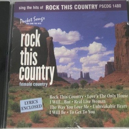 Rock This Country - Karaoke - Playbacks - PSCDG 1480 - CD-Front