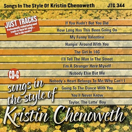 Sing Songs in the Style of Kristin Chenoweth - Karaoke Playbacks - CD-Front