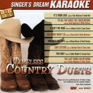 Timeless Country Duets - Karaoke Playbacks - CDG - CD-Front