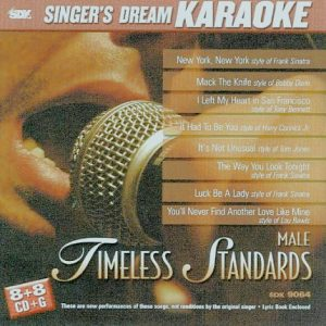 Timeless Standards-Male - Karaoke Playbacks - CD+G - CD-Front