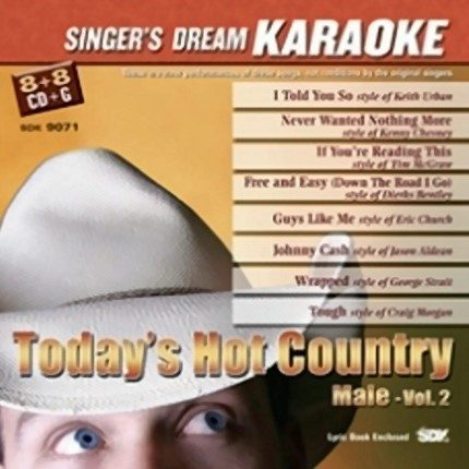 Today´s Hot country Vol.2 Male – Karaoke Playbacks - CD-Front