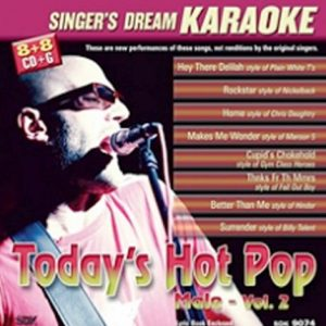 Today's Hot Rock and Pop Male Vol II - CD-Front