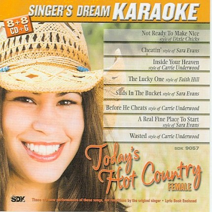 Today's Hot Country Female CD+G Karaoke Playbacks - CD-Front