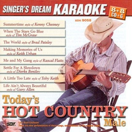 Today's Hot Country Male - Karaoke Playbacks - CDG - CD-Front