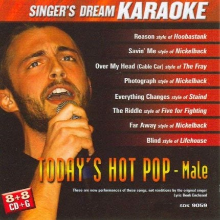 Today's Hot Pop-Male - Karaoke Playbacks - CD+G - CD-Front
