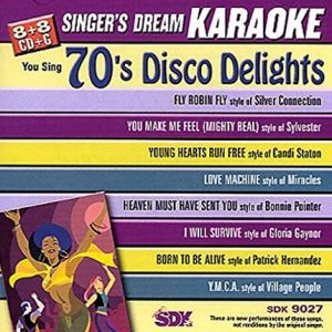 70's Disco Lights - Karaoke Playbacks - SDK 9027 - CD-Front