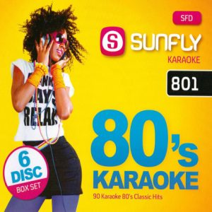 80´s Karaoke - 90 Songs auf 6 CDs - Sunfly SFD 801 - BOX Front