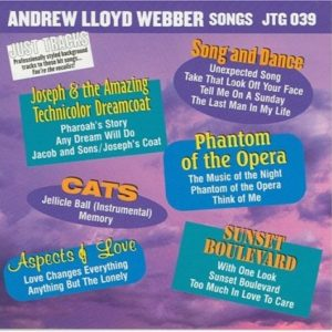 Andrew Lloyd Webber Songs als Karaoke Playbacks - JTG 039 - CD-Front