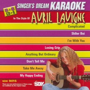 Avril Lavigne - Karaoke Playbacks - CD+G – SDK 9015 - CD-Front