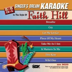 Best Of Faith Hill - Karaoke Playbacks - SDK 9020 - CD-Front