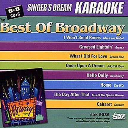 Best of Broadway - Karaoke Playbacks - SDK 9036 - CD-Front