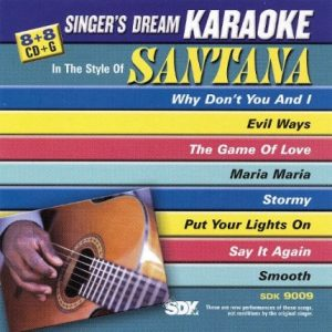 Best of Santana - Karaoke Playbacks - SDK 9009 - CD-Frontbild