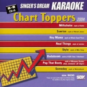 Chart Toppers 2004 - SDK 9030 - Karaoke Playbacks - CD-Front
