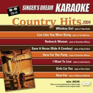 Country Hits 2004 - Karaoke Playbacks - SDK 9035