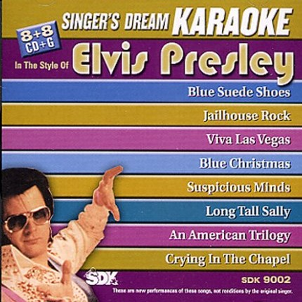 Elvis Presley - Karaoke Playbacks - SDK 9002 - CD-Front