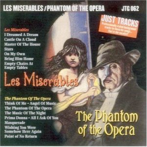 Les Miserables und Phantom der Oper - Karaoke Playbacks - JTG 062 - CD-Front