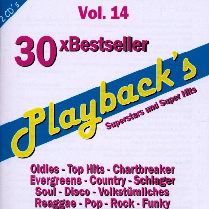 Playbacks Vol.14 - 30 Bestseller - Karaoke Playbacks - CD-Front