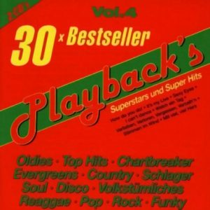 Playbacks Vol.4 Titan 30 Bestseller – Karaoke Playbacks - CD-Front