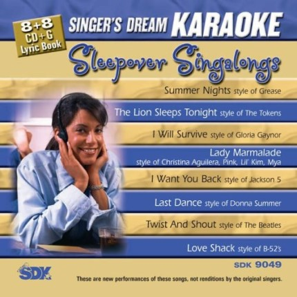 Sleepover Singalongs - Karaoke Playbacks - SDK 9049 - CD-Front