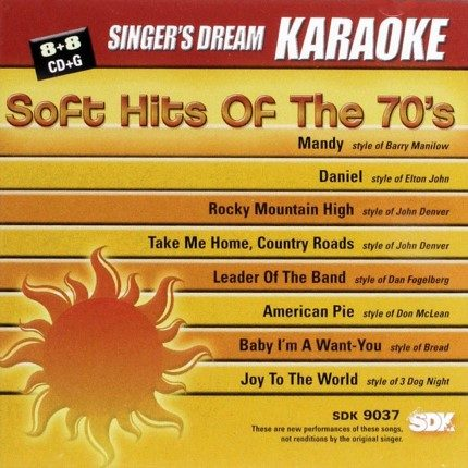Soft Hits of the 70s - Karaoke Playbacks - SDK 9037 - CD-Cover