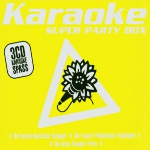 Super Party Box - Karaoke Playbacks - 3 CD Set - Front