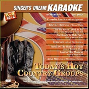 Today's Hot Country Groups - SDK 9072 - Karaoke Playbacks - CD-Front