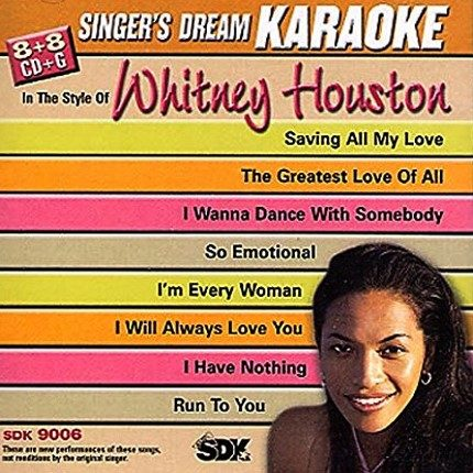 Whitney Houston - Karaoke Playbacks - SDK 9006 - CD-Front