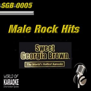 Sweet Georgia Brown - SGB0005 – Male Rock Hits – Karaoke Playbacks - Album-Front-