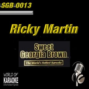 Sweet Georgia Brown - SGB0013 – Ricky Marin – Karaoke Playbacks - Album-Front -