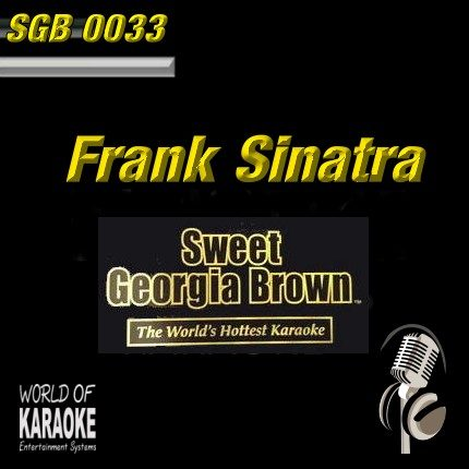 Sweet Georgia Brown - SGB0033 – Frank Sinatra – Karaoke Playbacks - Front-Ansicht-CD