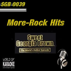 Sweet Georgia Brown - SGB0039 – More Rock Hits – Karaoke Playbacks - CD-Frontansicht -