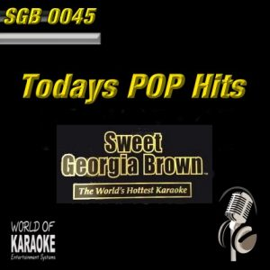 Sweet Georgia Brown - SGB0045 - Todays Pop – Karaoke Playbacks - Frontansicht CD-