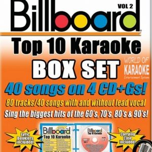 Billboard Top 10 Vol. 2 - 4 CD+ G Set - Karaoke Playbacks